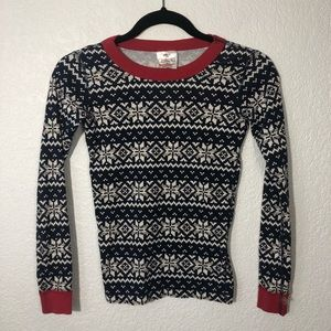 Hanna Andersson Flannel Blue and Red Pajama Top